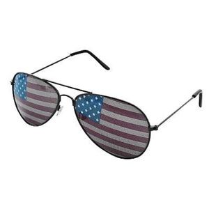 New wont Aviator Sunglasses  with the Americanflag